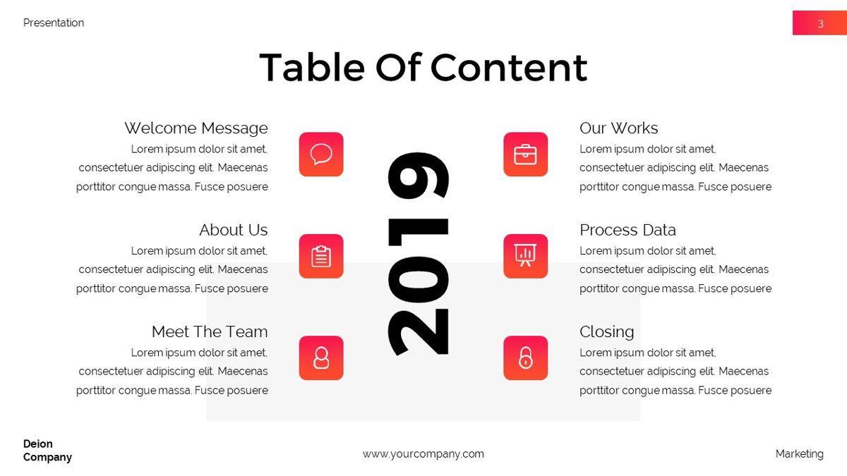 Deion - Simplicity Powerpoint Template, Slide 4, 06440, Business Models — PoweredTemplate.com