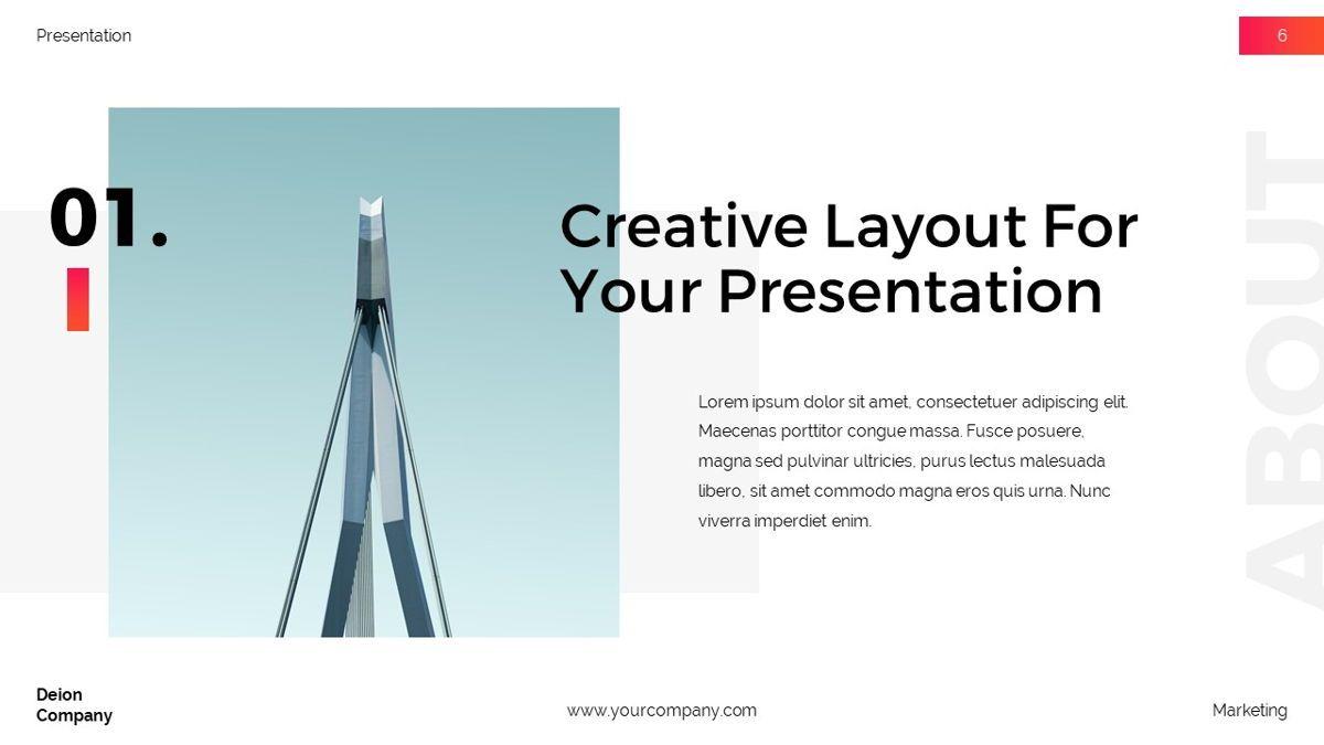 Deion - Simplicity Powerpoint Template, Slide 7, 06440, Business Models — PoweredTemplate.com
