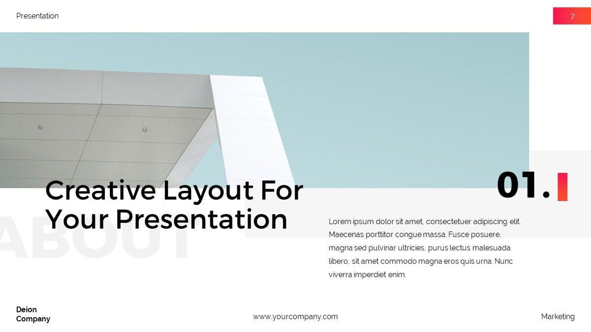 Deion - Simplicity Powerpoint Template, Slide 8, 06440, Business Models — PoweredTemplate.com
