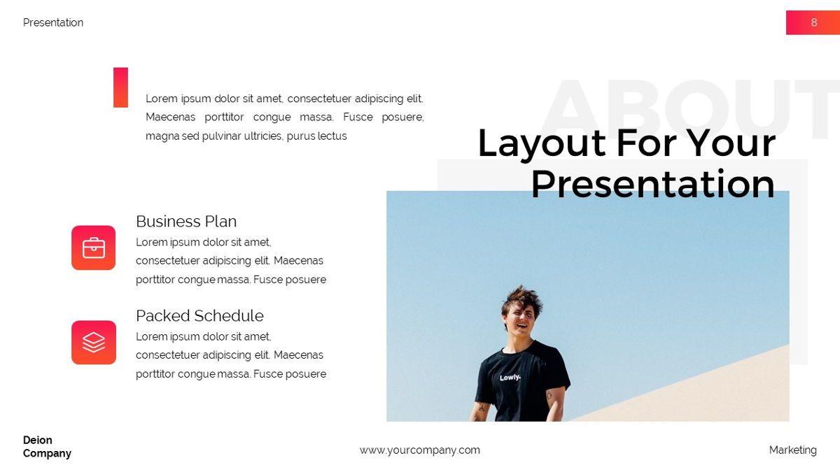 Deion - Simplicity Powerpoint Template, Slide 9, 06440, Business Models — PoweredTemplate.com
