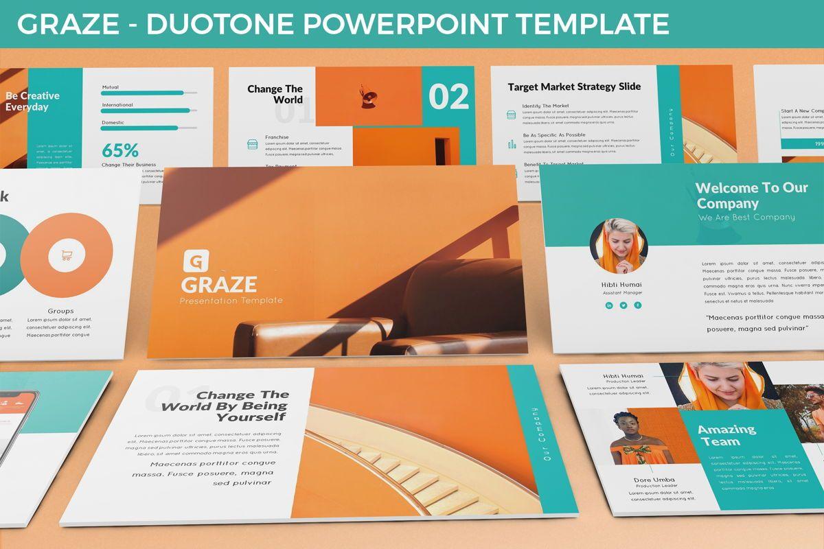 Graze - Powerpoint Presentation Template, 06441, Business Models — PoweredTemplate.com