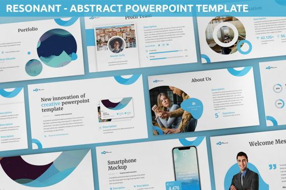 Data Driven Diagrams and Charts: Resonant - Abstract Powerpoint Template #06442