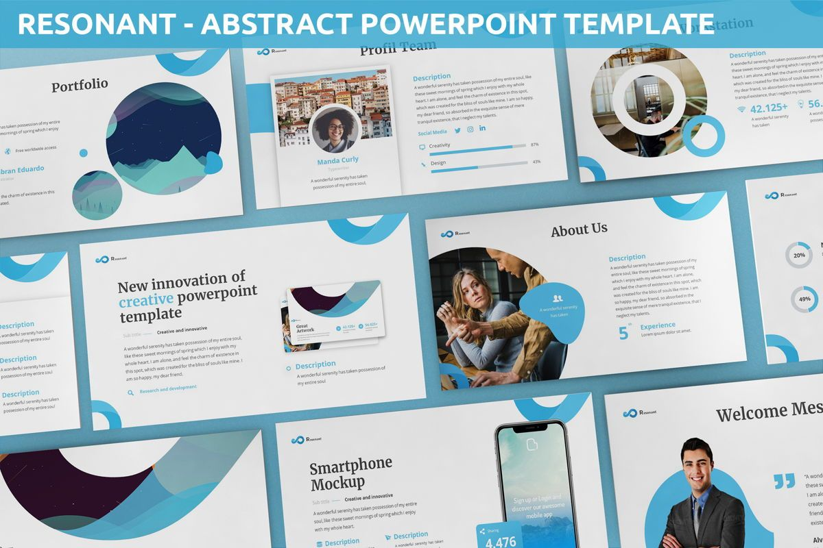 Resonant - Abstract Powerpoint Template, 06442, Data Driven Diagrams and Charts — PoweredTemplate.com