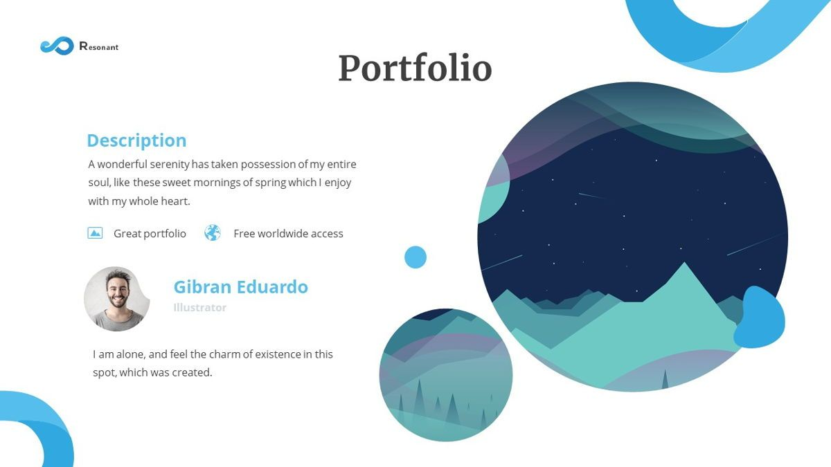 Resonant - Abstract Powerpoint Template, Slide 14, 06442, Data Driven Diagrams and Charts — PoweredTemplate.com