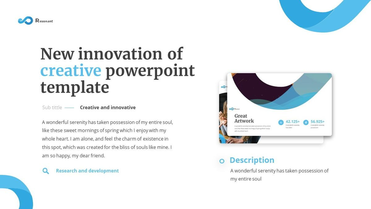 Resonant - Abstract Powerpoint Template, Slide 3, 06442, Data Driven Diagrams and Charts — PoweredTemplate.com