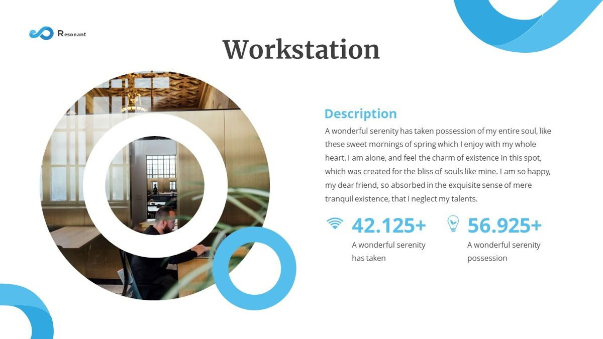 Resonant - Abstract Powerpoint Template, Slide 8, 06442, Data Driven Diagrams and Charts — PoweredTemplate.com