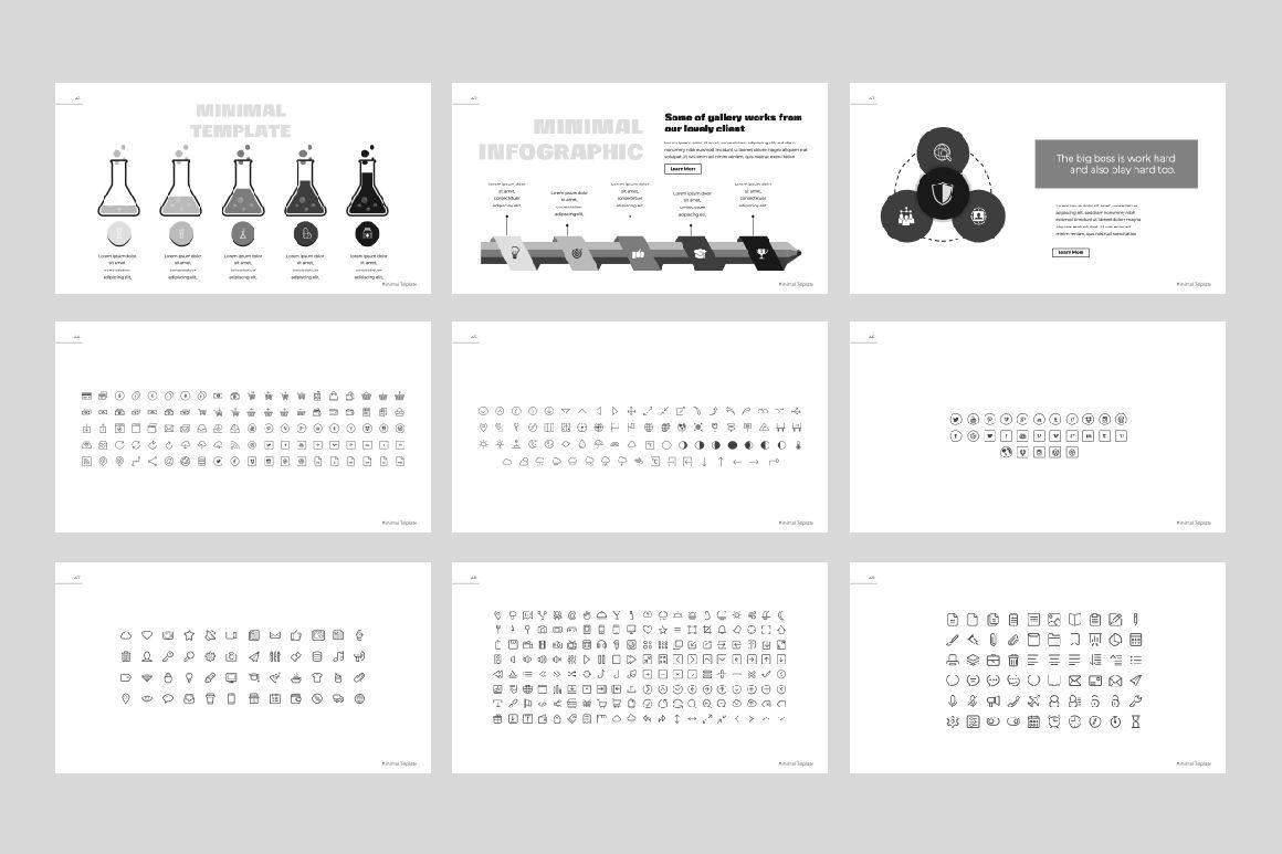 Minimal Powerpoint Template, Slide 6, 06443, Presentation Templates — PoweredTemplate.com
