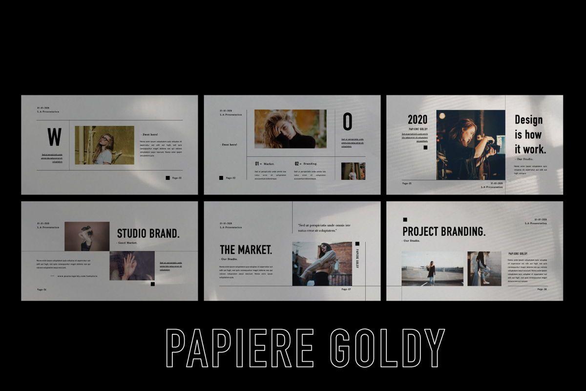 Papiere Goldy Creative Powerpoint, Slide 5, 06446, Presentation Templates — PoweredTemplate.com