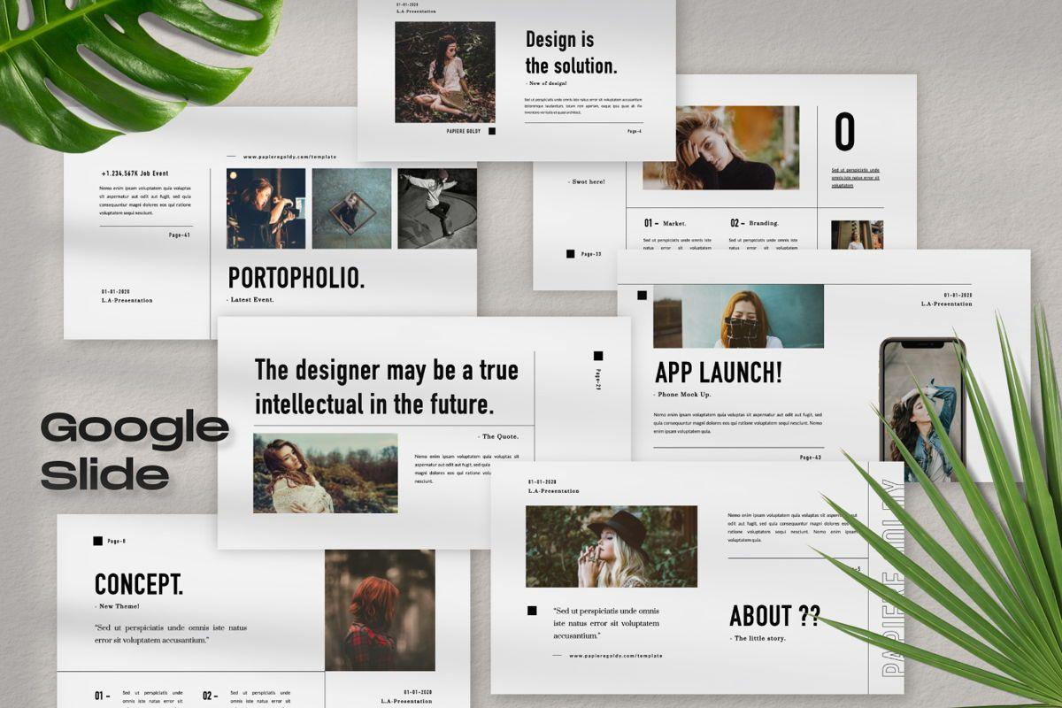 Papiere Goldy Creative Google Slide, 06448, Presentation Templates — PoweredTemplate.com