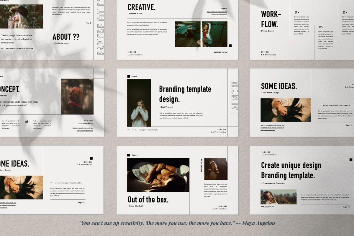 Papiere Goldy Creative Google Slide, Slide 2, 06448, Presentation Templates — PoweredTemplate.com