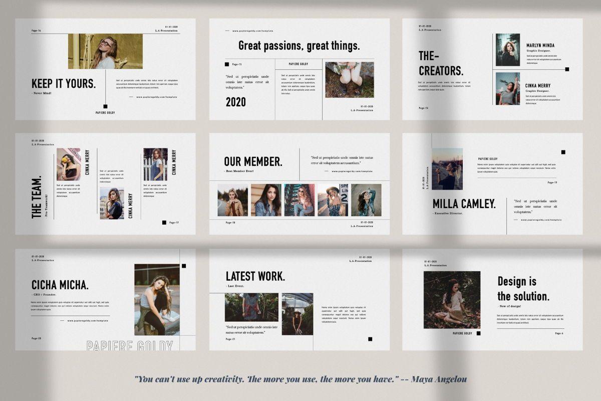 Papiere Goldy Creative Google Slide, Slide 3, 06448, Presentation Templates — PoweredTemplate.com