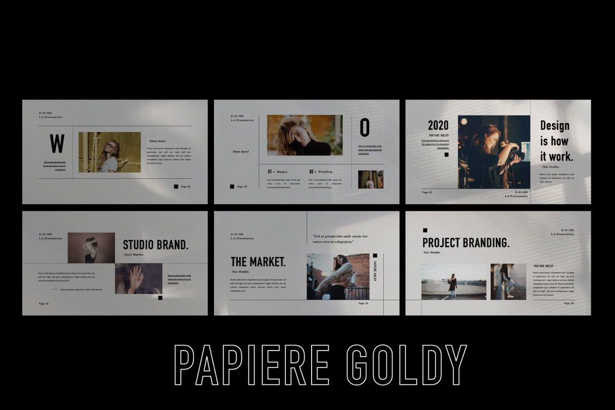 Papiere Goldy Creative Google Slide, Slide 5, 06448, Presentation Templates — PoweredTemplate.com