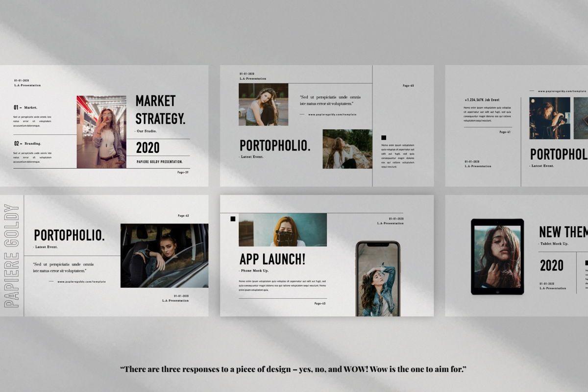 Papiere Goldy Creative Google Slide, Slide 6, 06448, Presentation Templates — PoweredTemplate.com