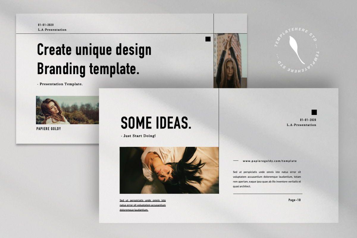 Papiere Goldy Creative Google Slide, Slide 8, 06448, Presentation Templates — PoweredTemplate.com