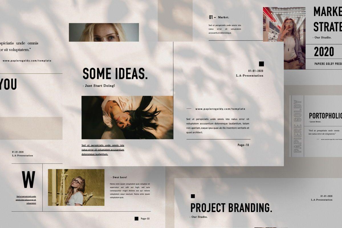 Papiere Goldy Creative Google Slide, Slide 9, 06448, Presentation Templates — PoweredTemplate.com