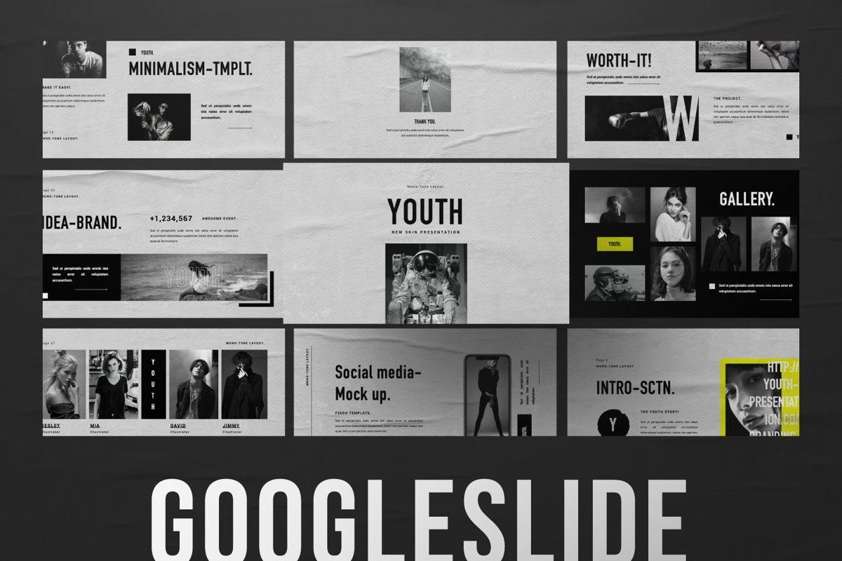 Youth Creative Google Slide, 06449, Presentation Templates — PoweredTemplate.com