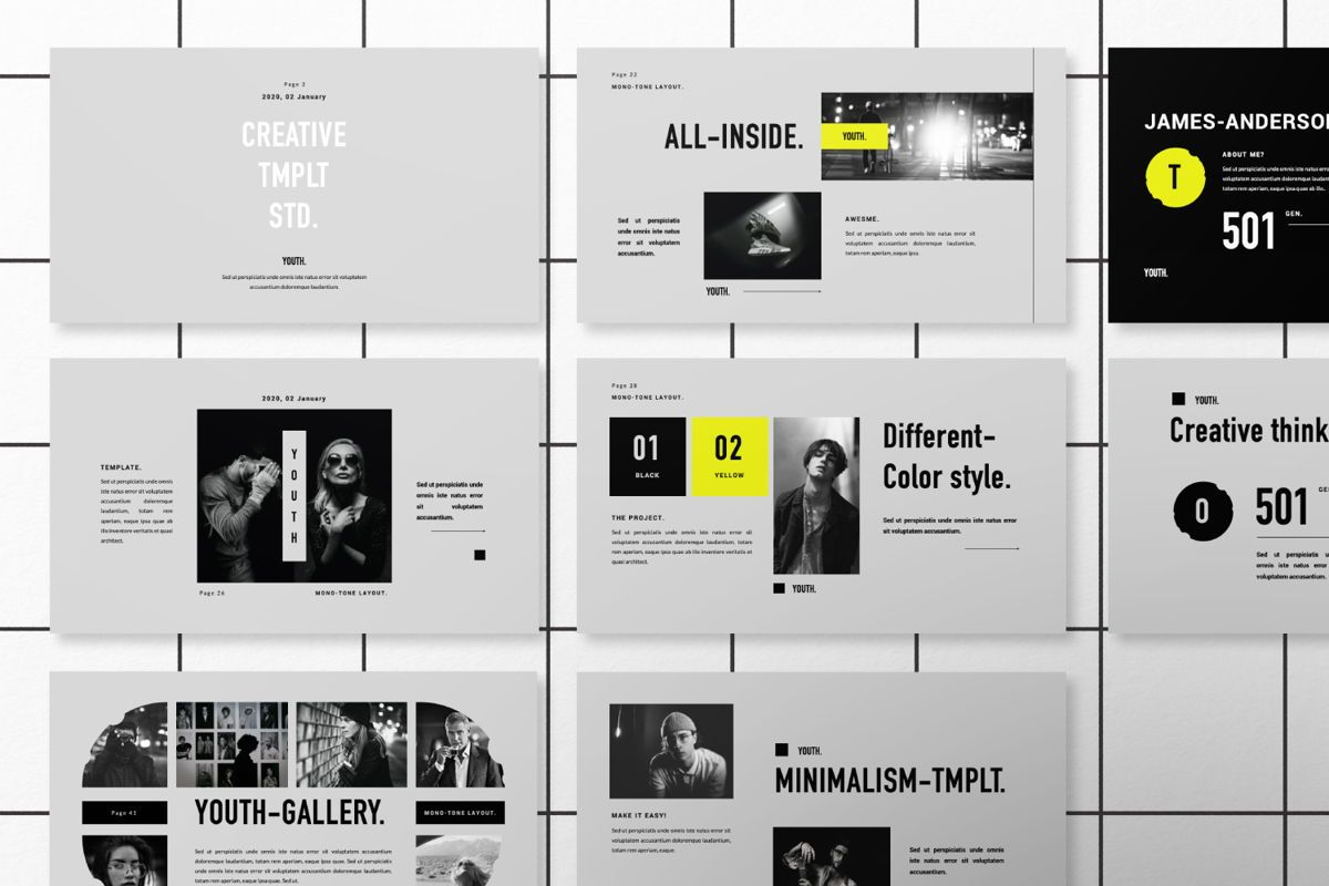 Youth Creative Google Slide, Slide 8, 06449, Presentation Templates — PoweredTemplate.com