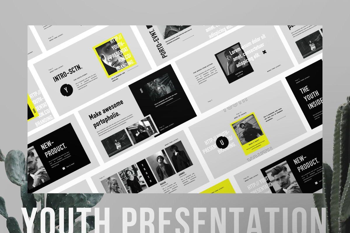 Youth Creative Powerpoint, 06451, Presentation Templates — PoweredTemplate.com