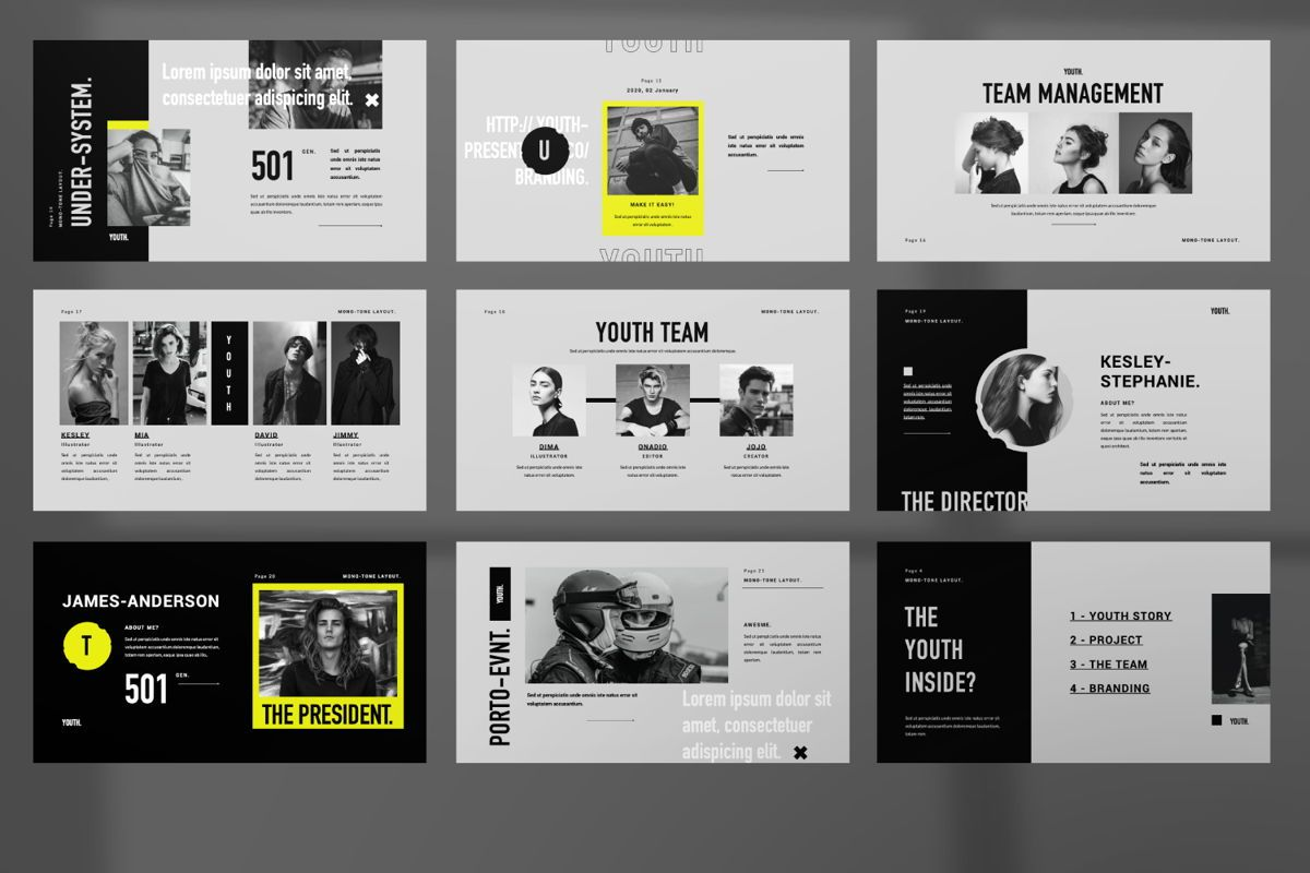 Youth Creative Powerpoint, Slide 3, 06451, Presentation Templates — PoweredTemplate.com