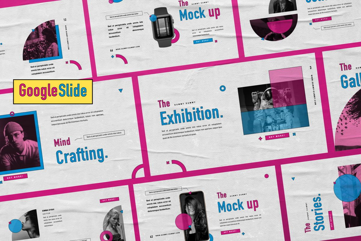 Gummy Dummy Creative Google Slide, 06455, Presentation Templates — PoweredTemplate.com
