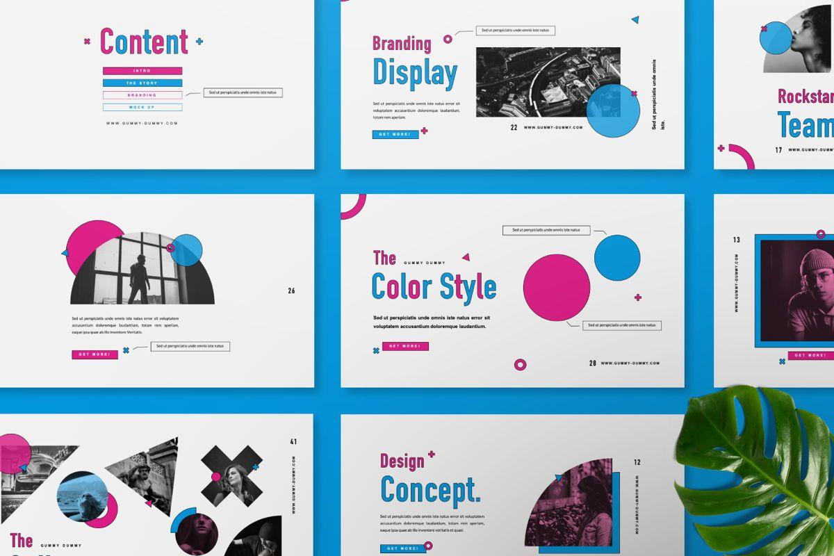 Gummy Dummy Creative Google Slide, Slide 7, 06455, Presentation Templates — PoweredTemplate.com