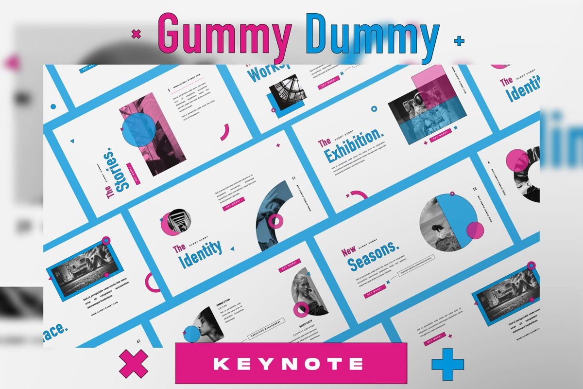 Gummy Dummy Creative Keynote, 06456, Presentation Templates — PoweredTemplate.com