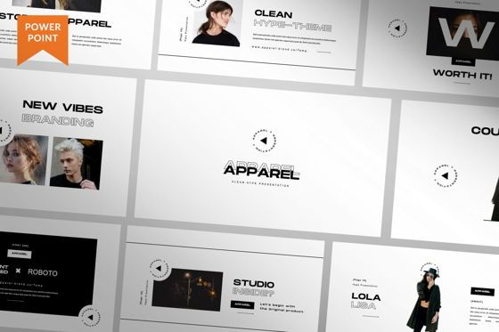Presentation Templates: Apparel Business Powerpoint #06458