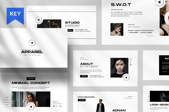 Presentation Templates: Apparel Business Keynote #06459