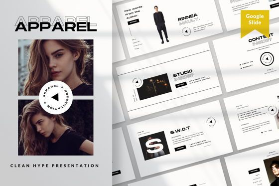 Presentation Templates: Apparel Business Google Slide #06460