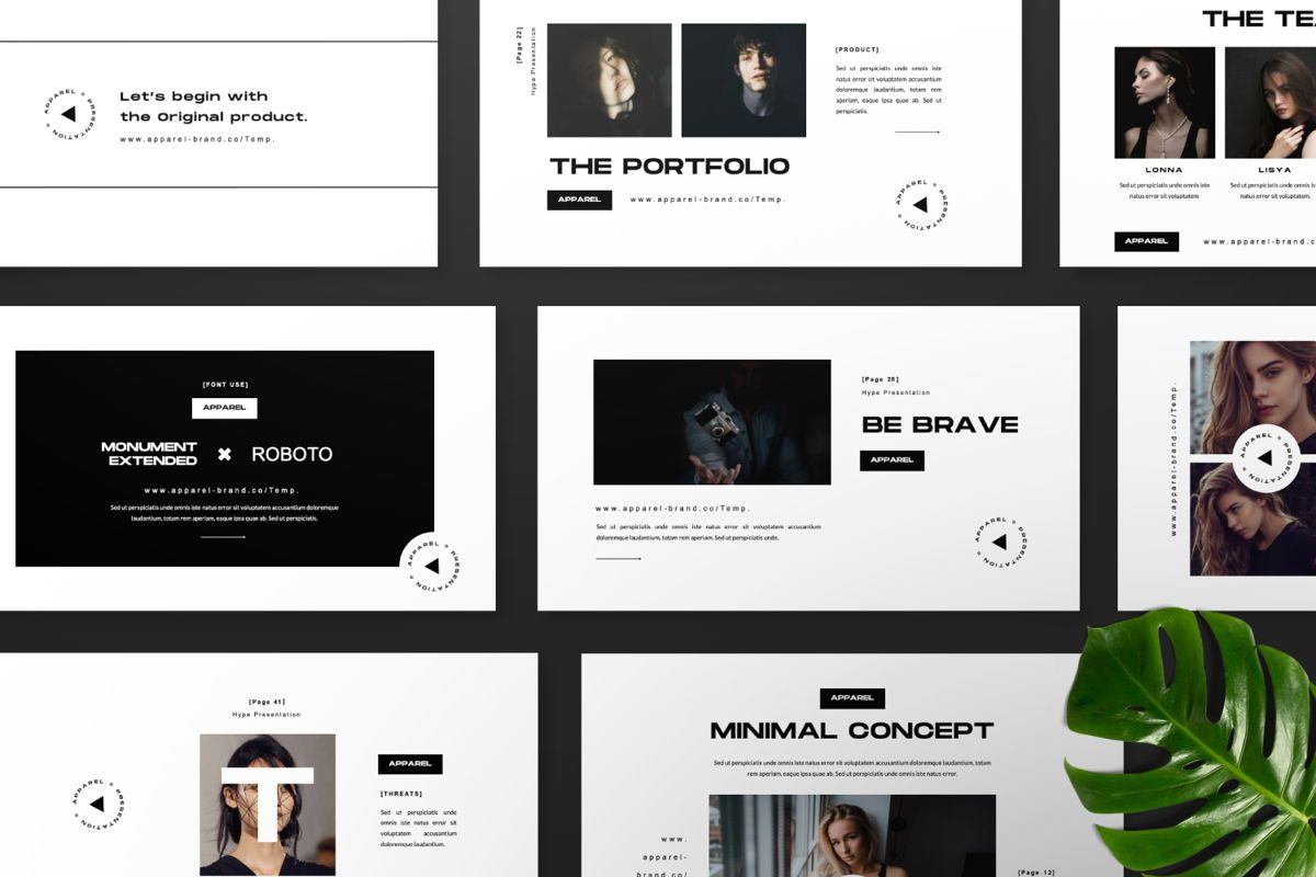 Apparel Business Google Slide, Slide 9, 06460, Presentation Templates — PoweredTemplate.com