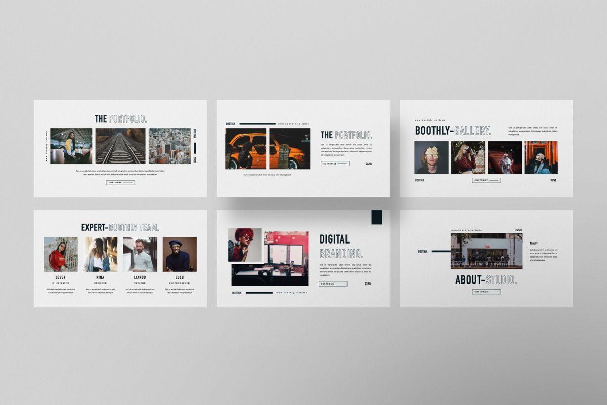 Boothly Creative Google Slide, Slide 2, 06461, Presentation Templates — PoweredTemplate.com