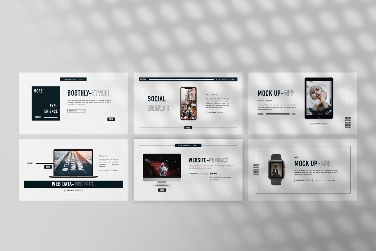 Boothly Creative Powerpoint, Slide 3, 06463, Presentation Templates — PoweredTemplate.com