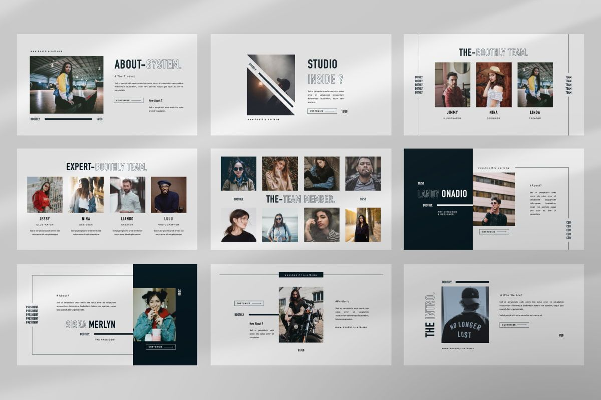 Boothly Creative Powerpoint, Slide 4, 06463, Presentation Templates — PoweredTemplate.com