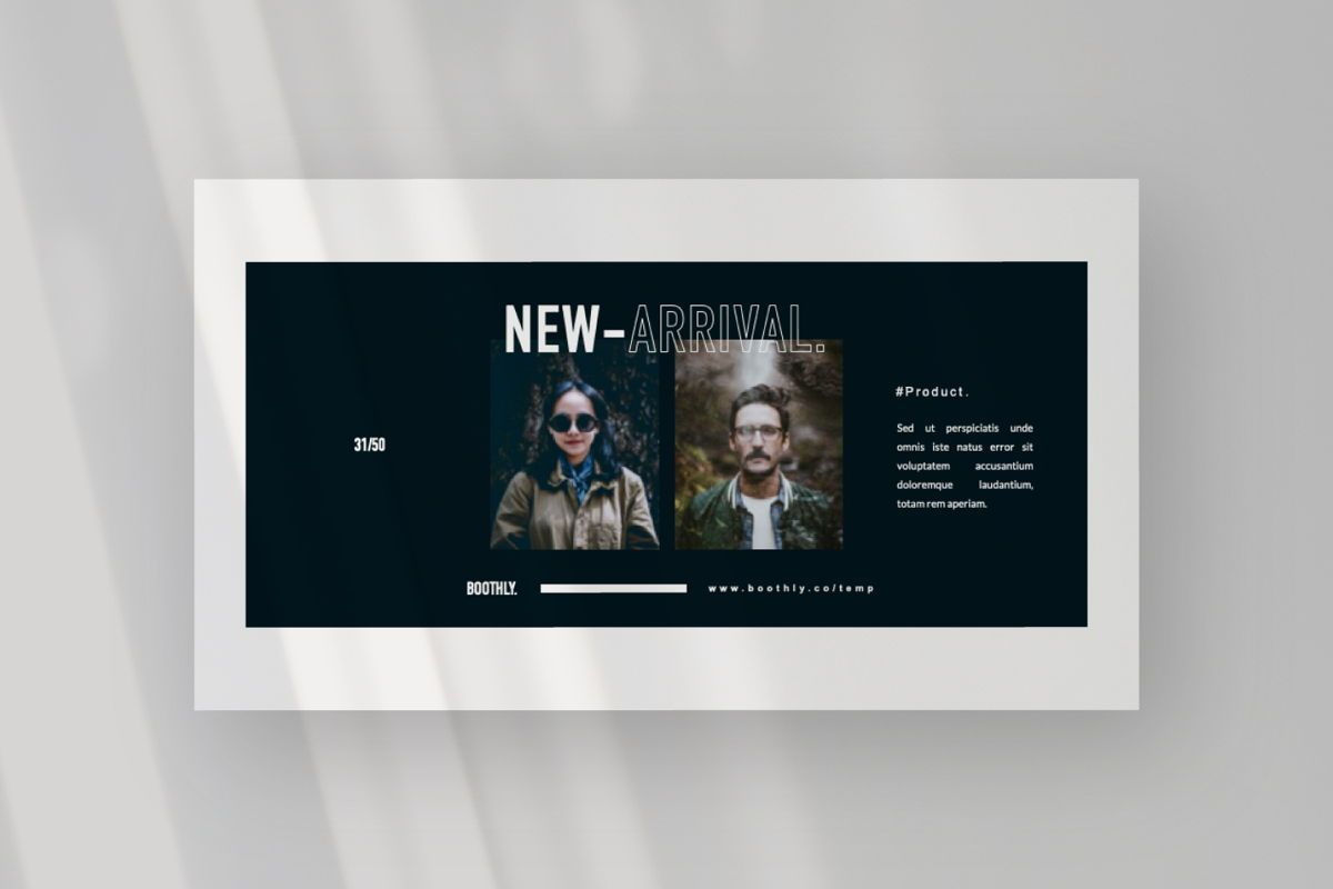 Boothly Creative Powerpoint, Slide 7, 06463, Presentation Templates — PoweredTemplate.com