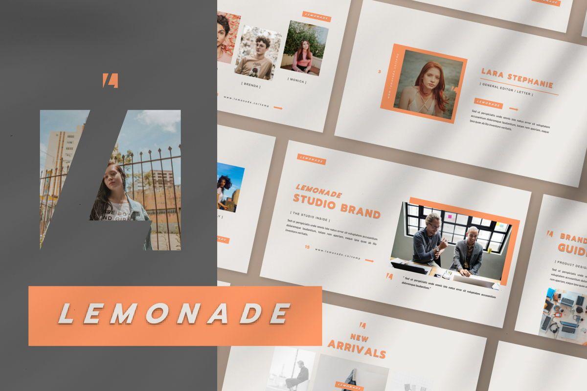Lemonade Creative Powerpoint, 06464, Presentation Templates — PoweredTemplate.com