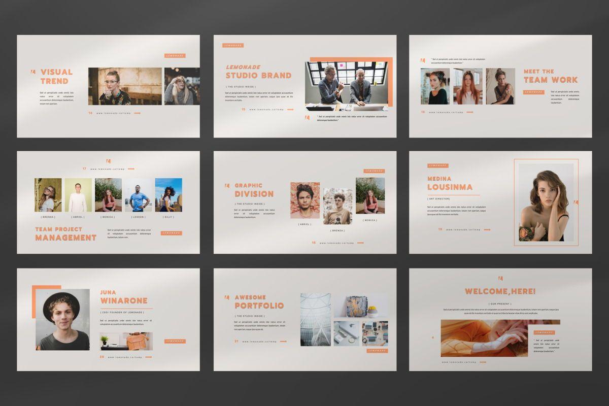 Lemonade Creative Powerpoint, Slide 4, 06464, Presentation Templates — PoweredTemplate.com