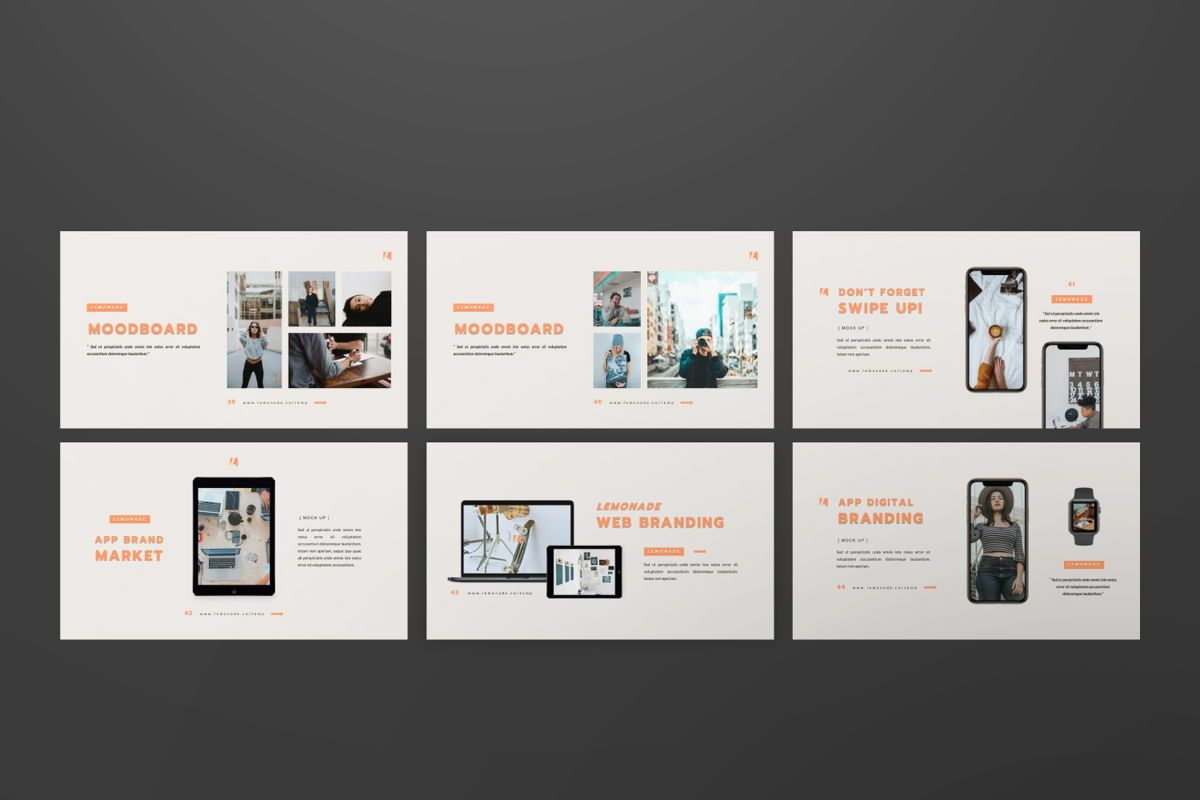 Lemonade Creative Powerpoint, Slide 6, 06464, Presentation Templates — PoweredTemplate.com