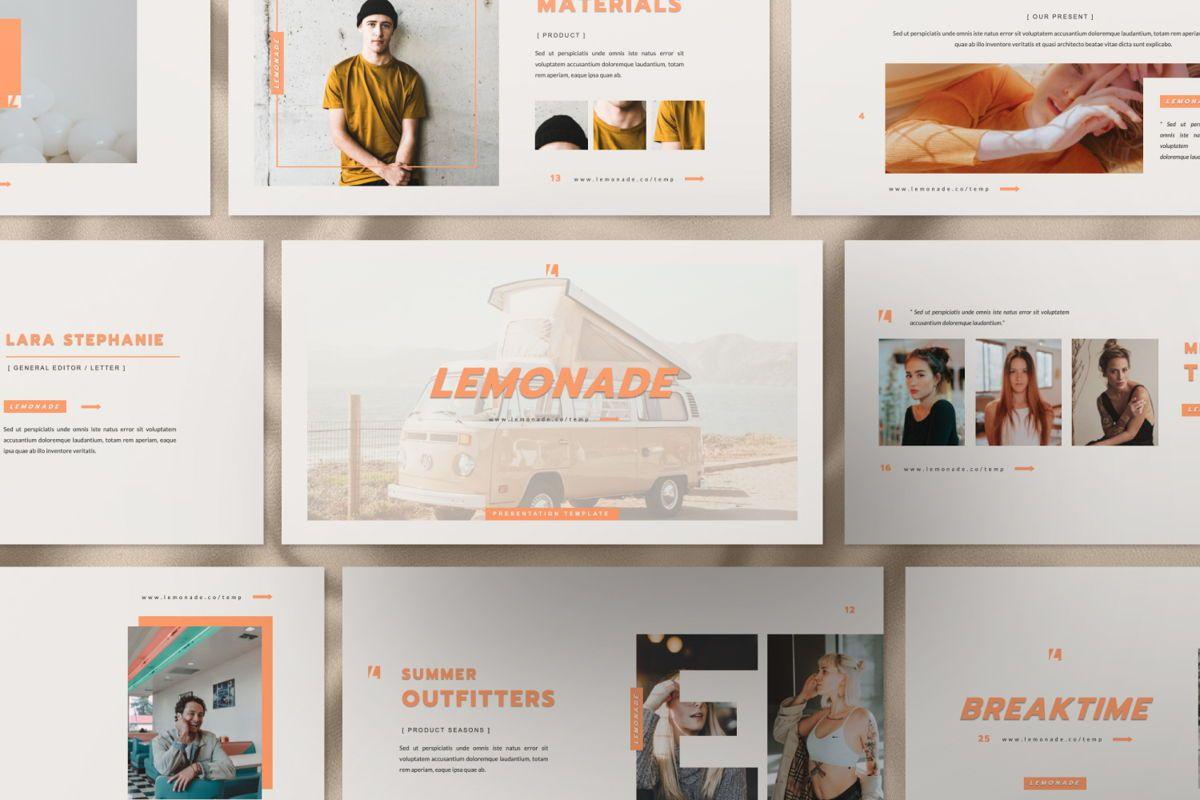 Lemonade Creative Google Slide, Slide 2, 06466, Presentation Templates — PoweredTemplate.com