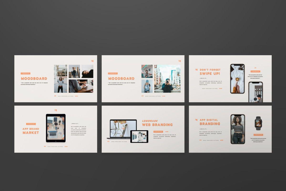 Lemonade Creative Google Slide, Slide 6, 06466, Presentation Templates — PoweredTemplate.com