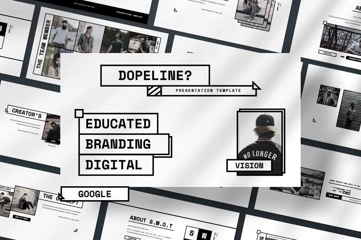Dopeline Creative Google Slide, 06470, Presentation Templates — PoweredTemplate.com