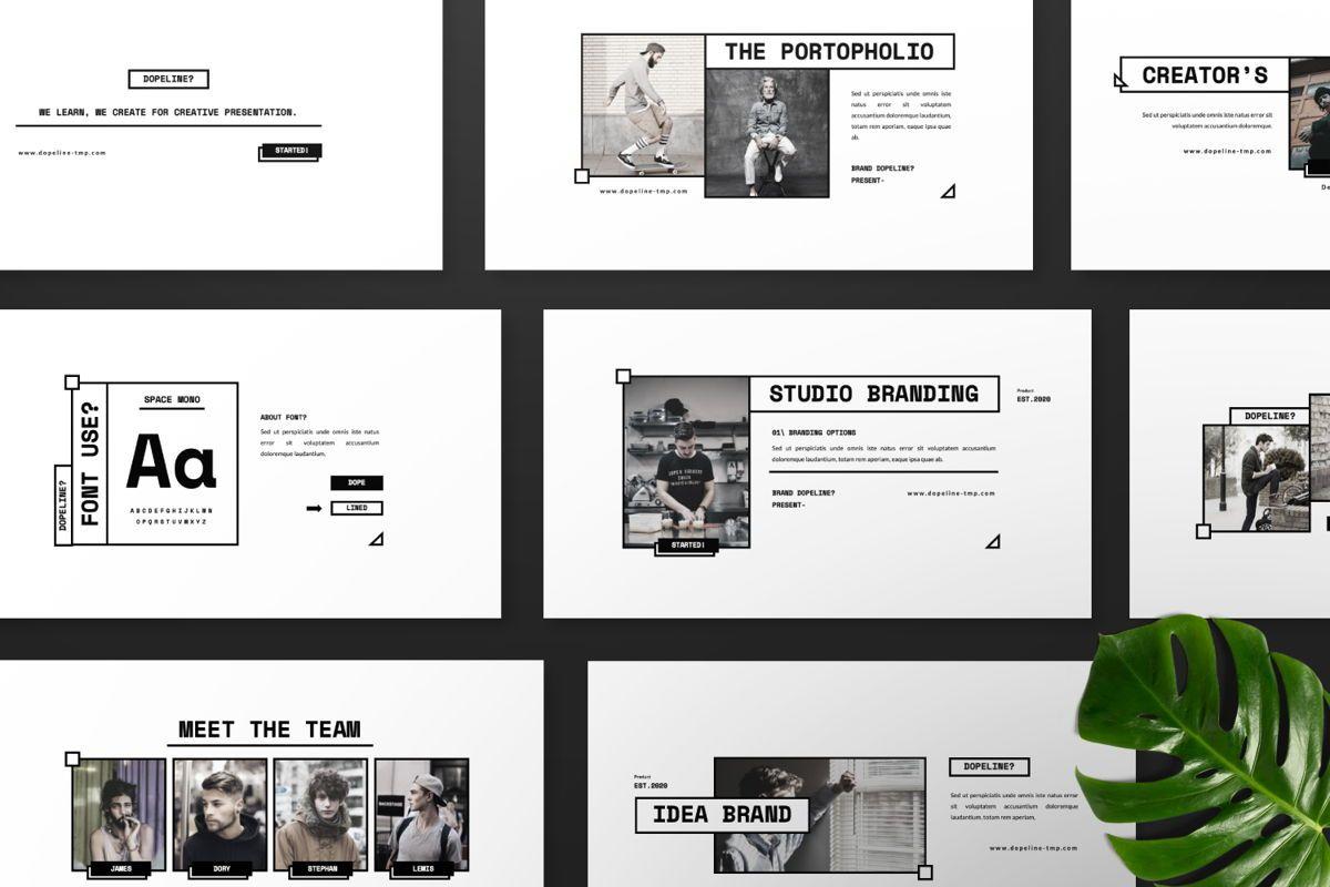 Dopeline Creative Google Slide, Slide 8, 06470, Presentation Templates — PoweredTemplate.com