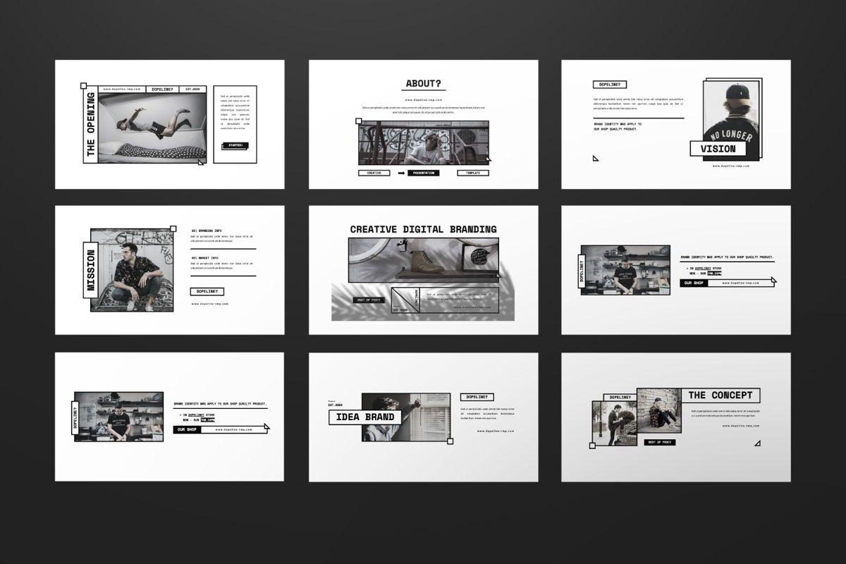 Dopeline Creative Keynote, Slide 2, 06471, Presentation Templates — PoweredTemplate.com