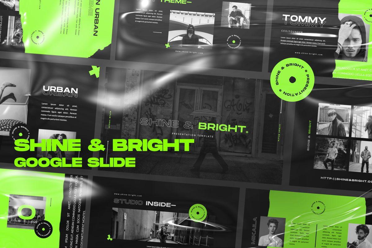 Shine Bright Creative Google Slide, 06473, Presentation Templates — PoweredTemplate.com