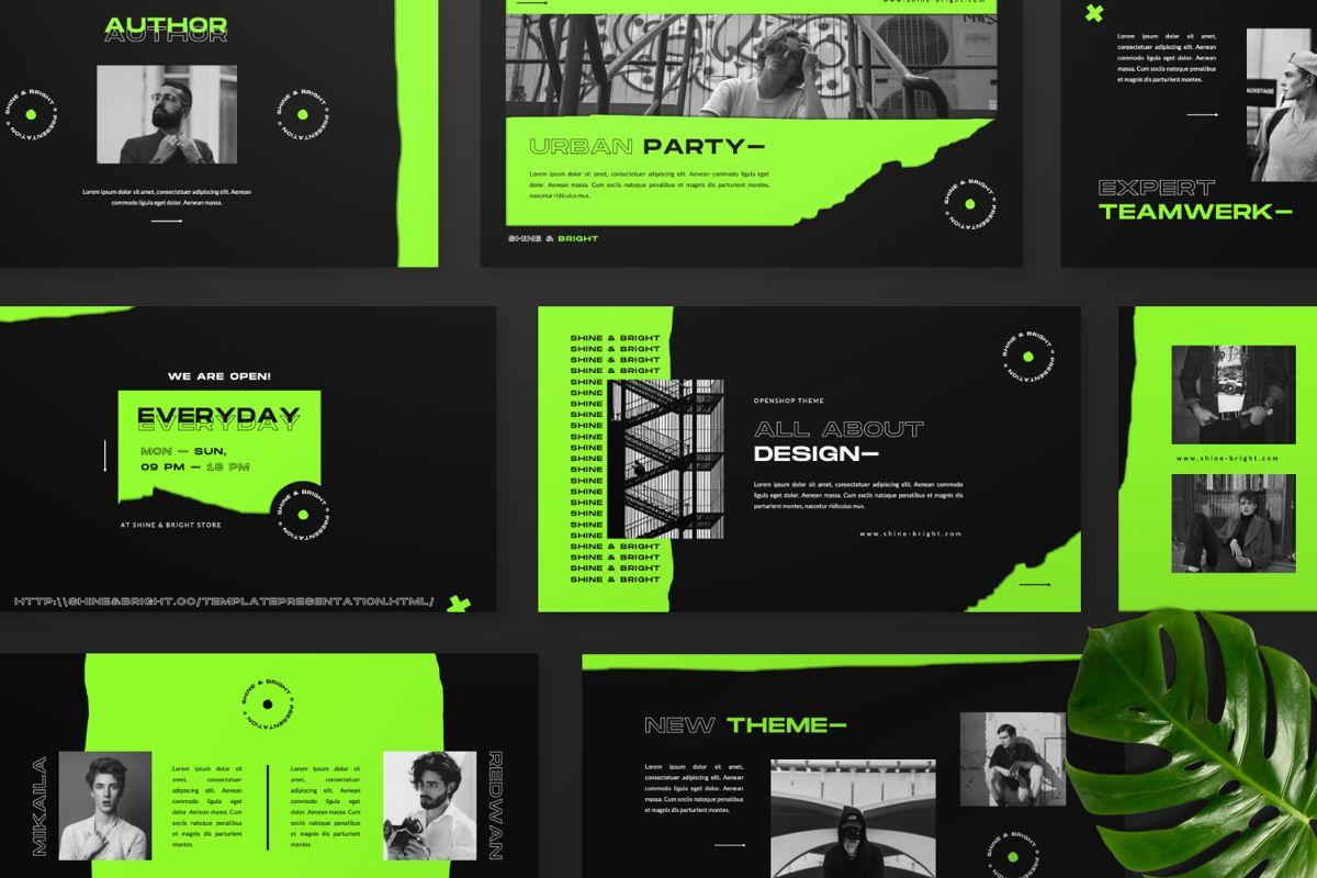 Shine Bright Creative Google Slide, Slide 8, 06473, Presentation Templates — PoweredTemplate.com