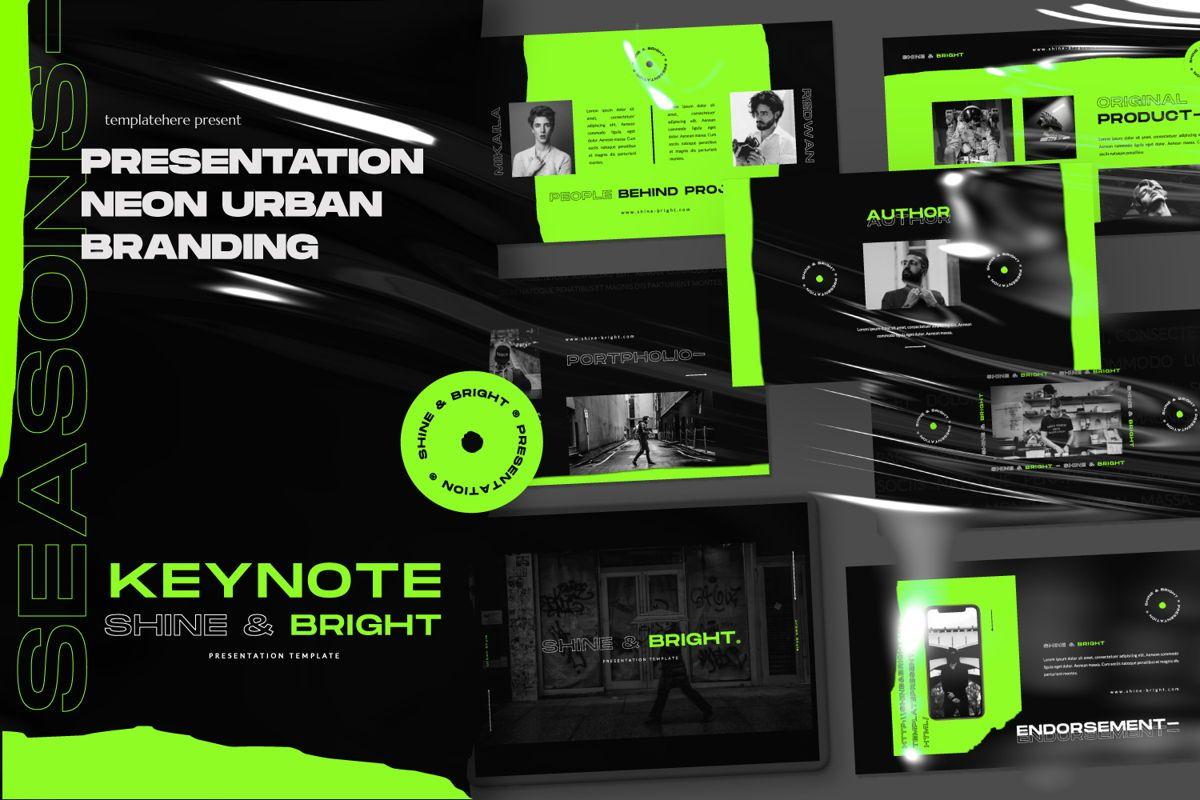 Shine Bright Creative Keynote, 06474, Presentation Templates — PoweredTemplate.com