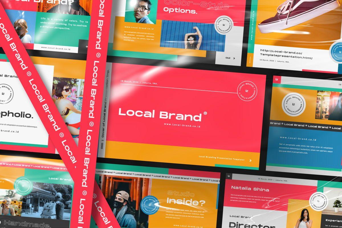 Local Creative Brand Google Slide, 06475, Presentation Templates — PoweredTemplate.com