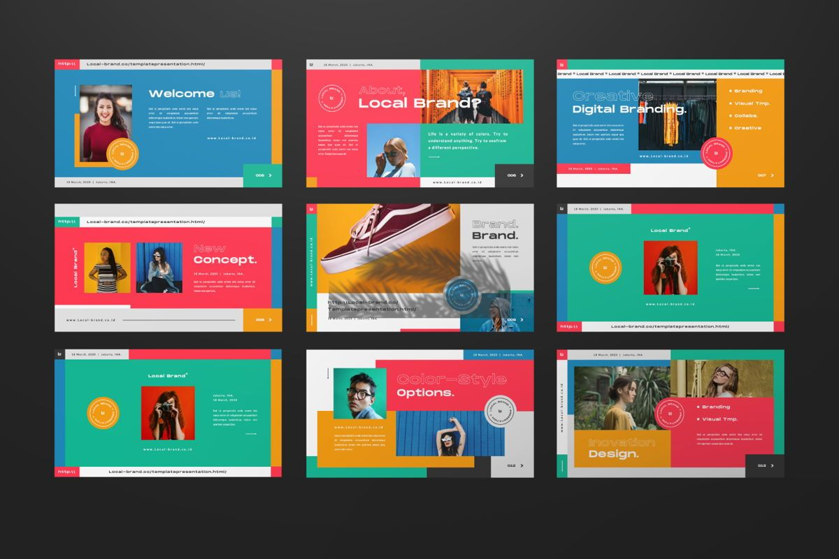 Local Creative Brand Keynote, Slide 2, 06476, Presentation Templates — PoweredTemplate.com