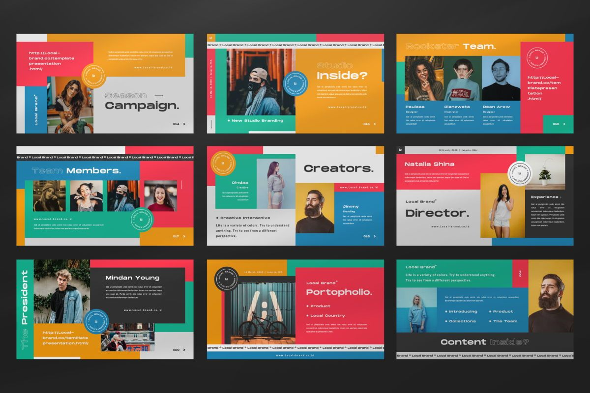 Local Creative Brand Keynote, Slide 3, 06476, Presentation Templates — PoweredTemplate.com