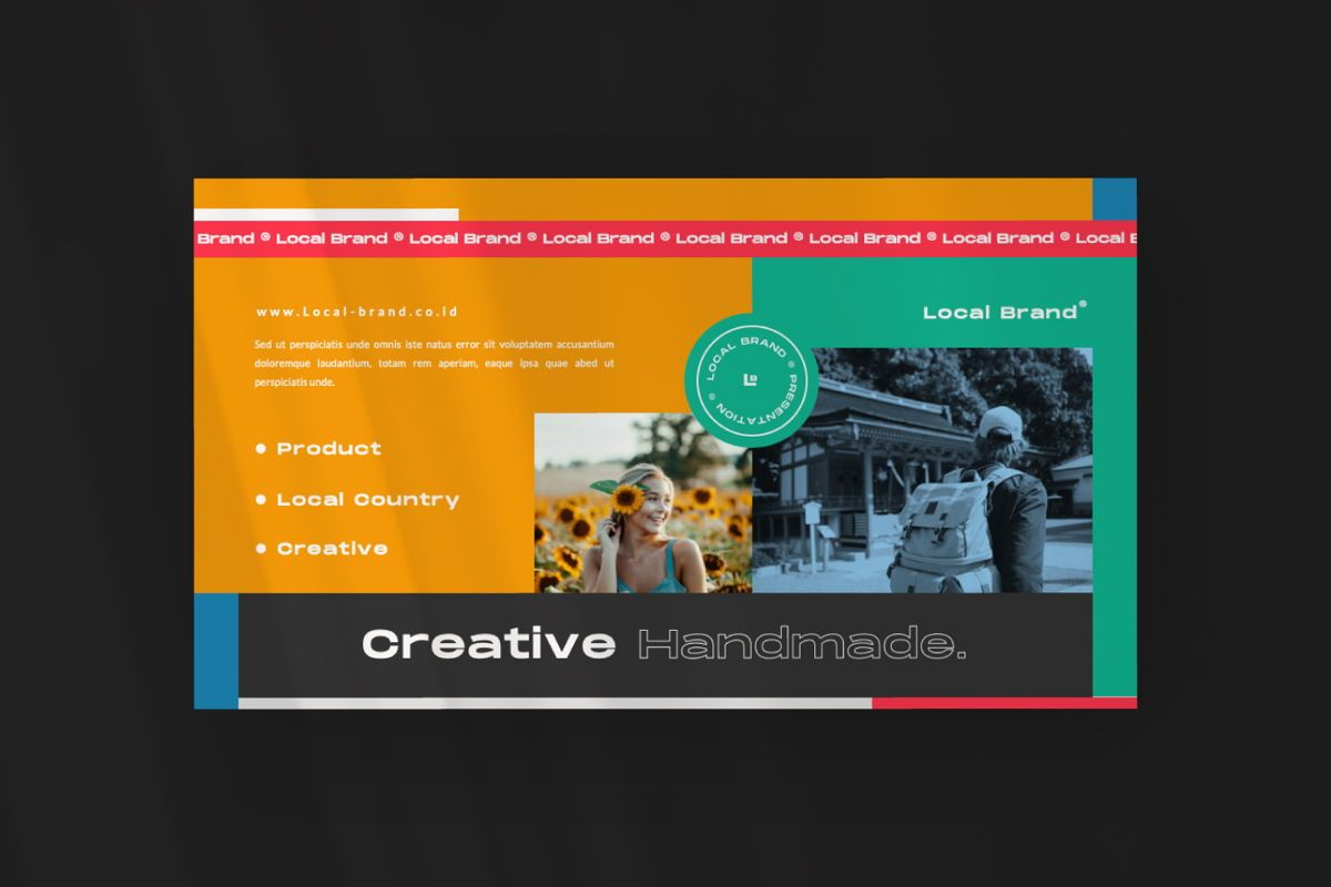 Local Creative Brand Keynote, Slide 7, 06476, Presentation Templates — PoweredTemplate.com