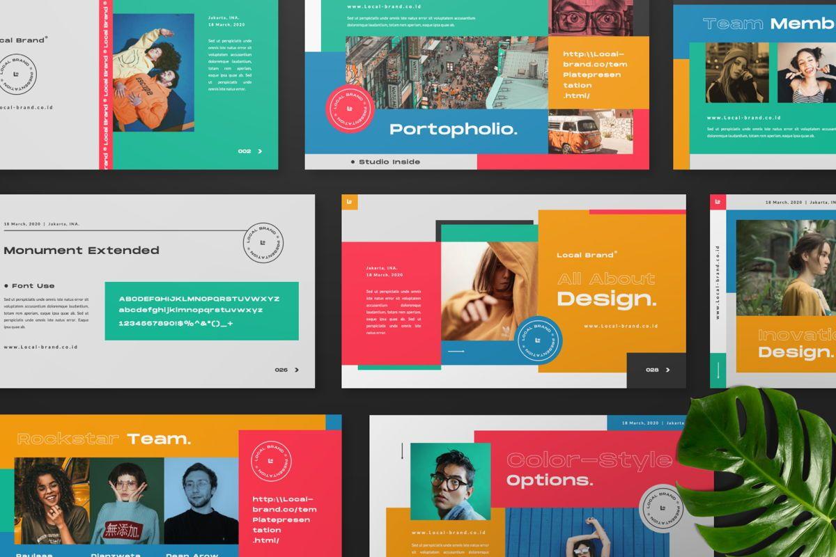 Local Creative Brand Keynote, Slide 8, 06476, Presentation Templates — PoweredTemplate.com